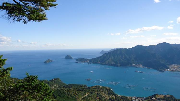 海側の眺望 熊野灘と尾鷲湾の入江
